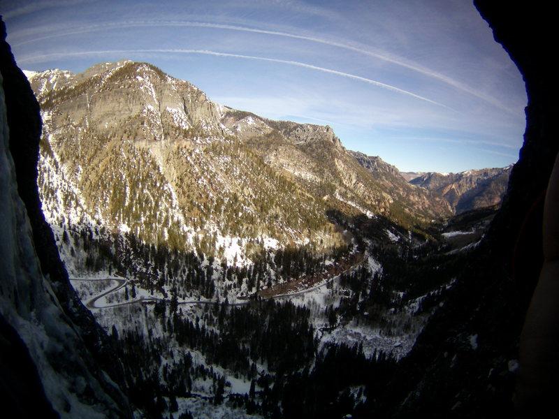 Rock Climbing Photo: Views from the Ribbon. Ouray, Colorado Sat January...