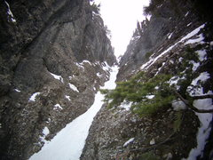 Rock Climbing Photo: Looking up the Gully. The Ribbon. Ouray, Colorado ...