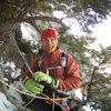 Mike Walley.  At the top of the Ribbon. Ouray, Colorado Sat January 25th 2014.  Photo by Alan Ream