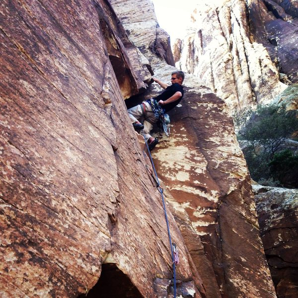 Austin after the crux on P2