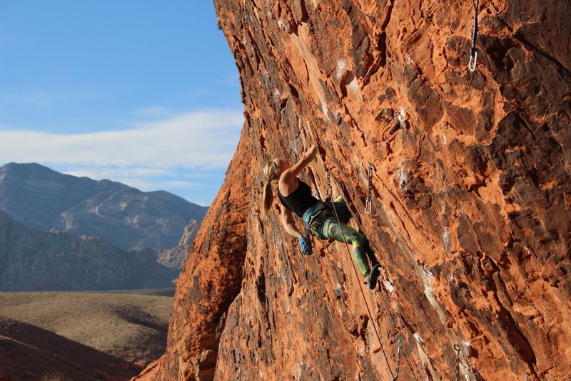 Climbing Yak Crack, Red Rocks