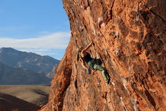 Rock Climbing Photo: Climbing Yak Crack, Red Rocks