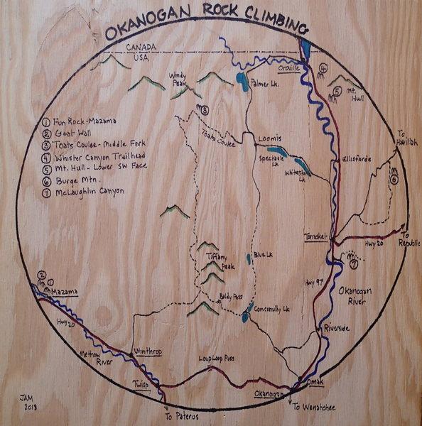 Okanogan climbing map