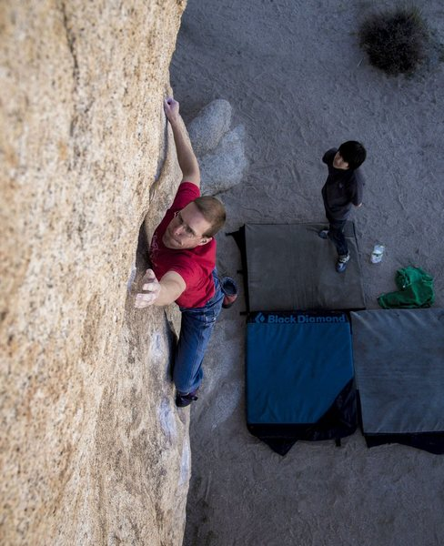 This problem haunted my dreams for 6 years after failing to send in 2008.  Finally got throw a heel over the lip jug -- now I can sleep.  Photo Darin Limvere.