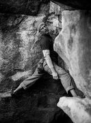 Rock Climbing Photo: At the rest on Gunsmoke.  Darin Limvere photo.