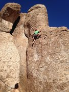 Rock Climbing Photo: Start was the crux. Pretty run out after last bolt...