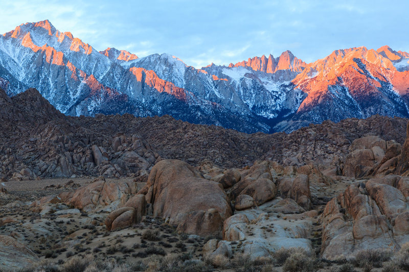 Mt Whitney from the Alabama Hills