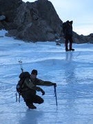 Rock Climbing Photo: The tarn at the bottom of Andrews Glacier RMNP.