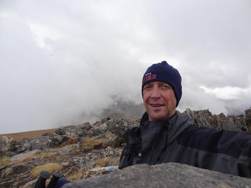 "Rock Climbing Photo: 2012 ""Selfie"" on Fall Peak RMNP"
