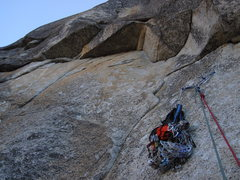 Rock Climbing Photo: Below the airy pitch 12 roof