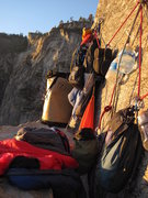 "Rock Climbing Photo: ""Lost World"" bivy ledge, off route, reac..."