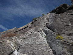 Rock Climbing Photo: Pitch 19 - continue past bolted anchors to ledge u...