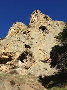 Rock Climbing Photo: Proboscis (SW Buttress of Mammoth Rock. 150', 2 pi...