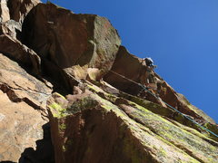 Rock Climbing Photo: The crux roof on Love Minus Zero - Not as good as ...