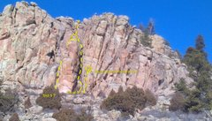 Rock Climbing Photo: Cherokee Ridge, Right side.  Cactus Spine Pinnacle...