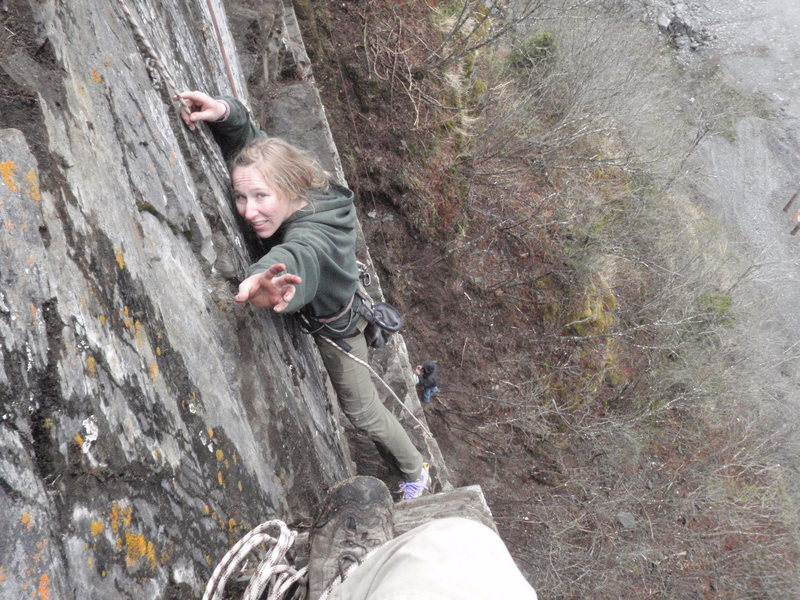 Rock Climbing Photo: Carrie saying hi.