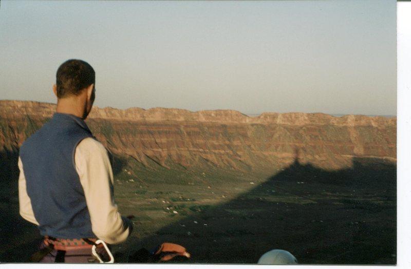 Rock Climbing Photo: Dawn shadow