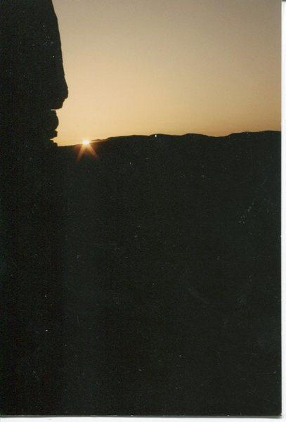 Pre dawn, waiting for enough light to climb.