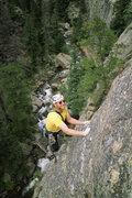 Rock Climbing Photo: The elegant arete of Strange Cargo, pitch 3. Photo...