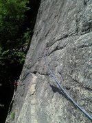 Rock Climbing Photo: 2nd Belay on Thin Air