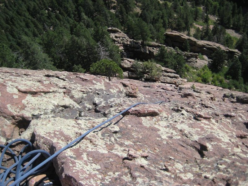 I don't remember how far up.. or which flatiron, but the flatirons in Boulder.