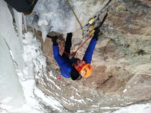 Rock Climbing Photo: Glen following.