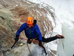 Rock Climbing Photo: Transfer to the hanger.