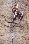 Rock Climbing Photo: Mike Paul doing a TR lap in 1982 or so.