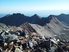 Rock Climbing Photo: From T.O.  The ridge line as its runs north and tu...