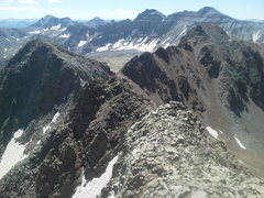 Rock Climbing Photo: From Peak 13,441 (S6) looking southeast back round...