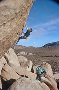 Rock Climbing Photo: Doug McDonald climbs while Roy McClenahan contempl...