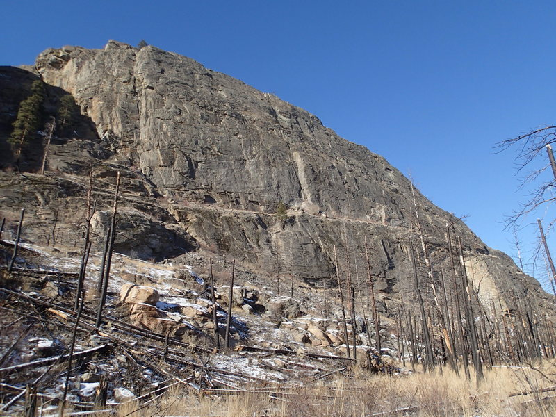 """Rock Climbing Photo: Main Wall from the south (The """"Dihedral""""..."""