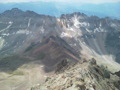 Rock Climbing Photo: From Sneffels looking south towards Gilpin and Blo...