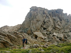 Rock Climbing Photo: Justin Day on the short approach after the long 10...