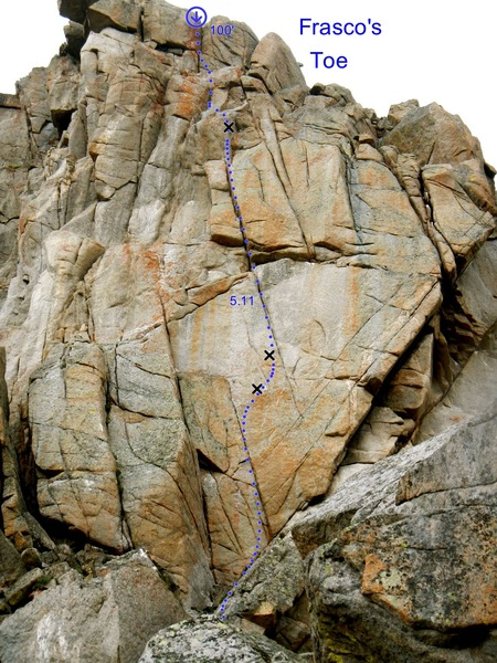 Rock Climbing Photo: I think there could be a handful of sweet pitches ...