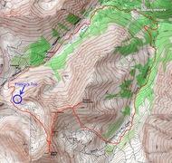 Rock Climbing Photo: Topo map.