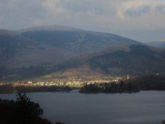 Rock Climbing Photo: Town of Keswick .Cumbria, Sun shines on the righte...