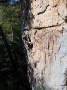 Rock Climbing Photo: Moderate section in the beginning.