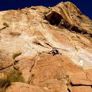 Rock Climbing Photo: P1 Leonids, El Cajon Mtn