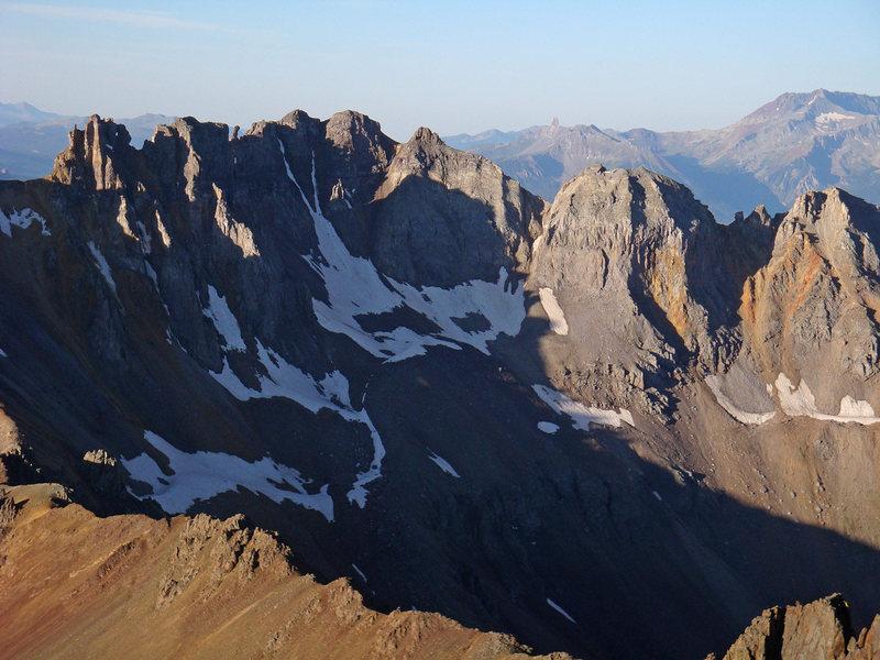Rock Climbing Photo: A closer view at Block Tops (13,543') from Sneffel...