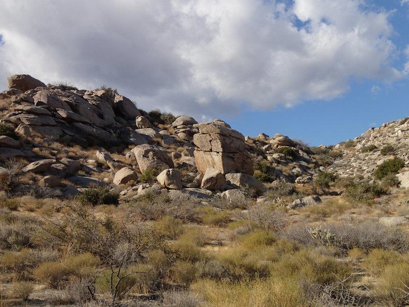 Rock Climbing Photo: Quarts faced highball crack.