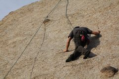 Rock Climbing Photo: Going up to take down anchors on Kate's Fault - th...