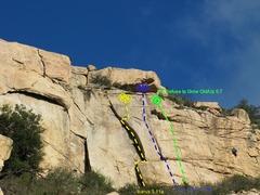 Rock Climbing Photo: Main Wall (Central)