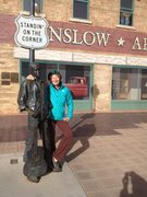 Rock Climbing Photo: Standin' on a corner in Winslow Arizona