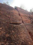 Rock Climbing Photo: Sam in the V