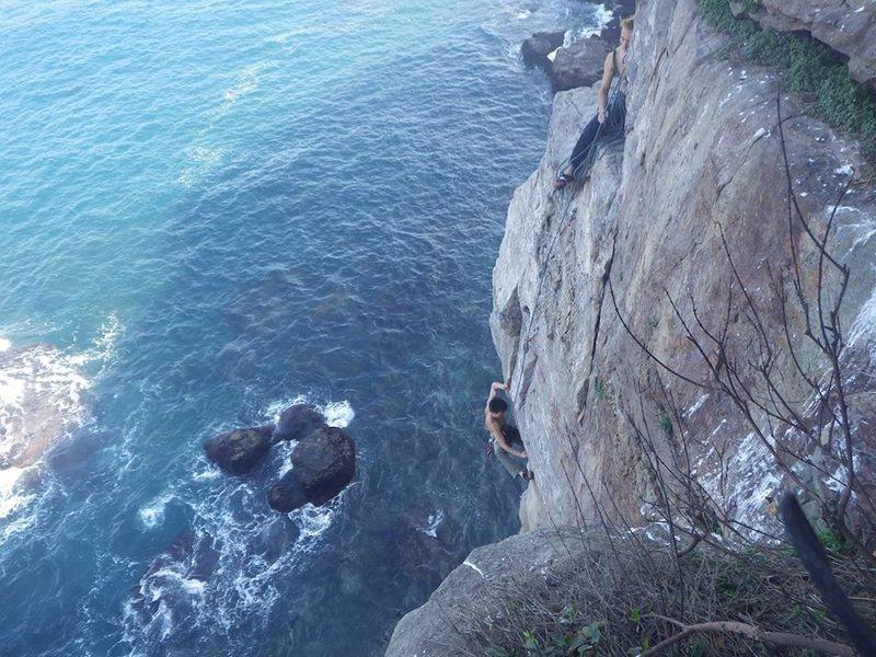 Rock Climbing Photo: Hiroshi in the business - photo by Lou