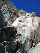 Rock Climbing Photo: Justin Day on the Leaning Flake. Right side of the...