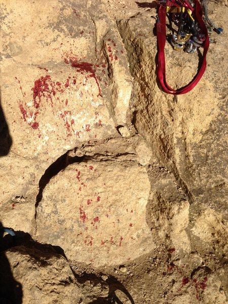 Rock Climbing Photo: Where I was standing :-/