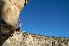 Harry Edwards on Suicide King, Jacks Canyon, AZ.