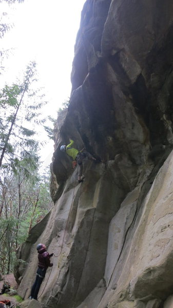 Rock Climbing Photo: wild moves through the roof of 5 Deadly Venoms